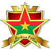 gold star with the flag of Burkina Faso