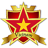 Vector clipart: gold star to the flag of Vietnam th
