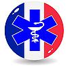 Anzeichen nationale Medizin in Frankreich