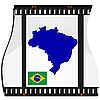 Film shots with national map of Brazil