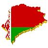 Векторный клипарт: 3D-карта Беларуси