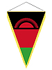 Vector clipart: pennant with the national flag of Malawi