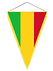 Vector clipart: pennant with the national flag of Mali