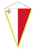 Vector clipart: pennant with the national flag of Malta