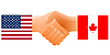 Sign of friendship the United States and Canada