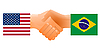 Sign of friendship the United States and Brazil