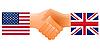 Zeichen der Freundschaft der Vereinigten Staaten und Großbritannien