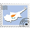 stamp with the image maps of Cyprus