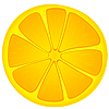 Векторный клипарт: Изображение кусочками апельсина