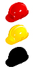 Vector clipart: Set of colored helmets.