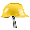 Vector clipart: Yellow helmet with strap
