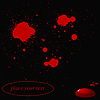 Vector clipart: background with red blots