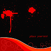 Vector clipart: black background with red blots
