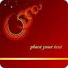 Vector clipart: red background with an open ring