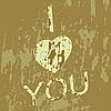 Vector clipart: Grunge heart.