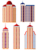 Vector clipart: Set of of apartment buildings