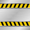 Vector clipart: metal plate with forbidding strip
