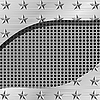 Vector clipart: metal plate with holes and stars