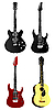 Vector clipart: Collection of of electric and acoustic guit