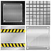 Vector clipart: Collection of of metal plates