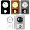 Vector clipart: Set of images pendulum clocks