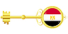Vector clipart: golden key of Egypt