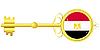 Векторный клипарт: золотой ключ Египта