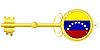 Векторный клипарт: золотой ключ Венесуэлы