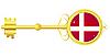 Векторный клипарт: Золотой ключик Дании