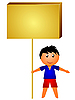 Vector clipart: boy with board.