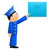 Vector clipart: Small postman.