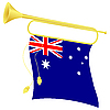 Vector clipart: bugle with flag Australia