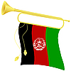 Vector clipart: bugle with flag Afghanistan