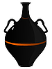 Vector clipart: black clay amphora.