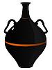 Векторный клипарт: черная глина амфоры.