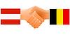 Векторный клипарт: знак дружбы Австрии и Бельгии