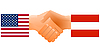 Vector clipart: sign of friendship the United States and Austria