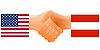 Zeichen der Freundschaft der Vereinigten Staaten und Österreich
