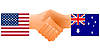 Vector clipart: sign of friendship the United States and Australia