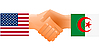 Vector clipart: sign of friendship the United States and Algeria