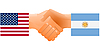 Vector clipart: sign of friendship the United States and Argentina