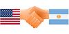 Zeichen der Freundschaft der Vereinigten Staaten und Argentinien