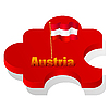 Vector clipart: puzzle with flag of Austria