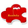 puzzle with flag of Austria