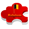 Vector clipart: puzzle with flag of Belgium