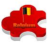 puzzle with flag of Belgium