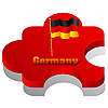 Vector clipart: puzzle with flag of Germany