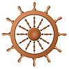 Vector clipart: Ship wheel