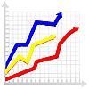 Векторный клипарт: Схема с цветными стрелками