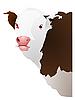 Векторный клипарт: голова коровы